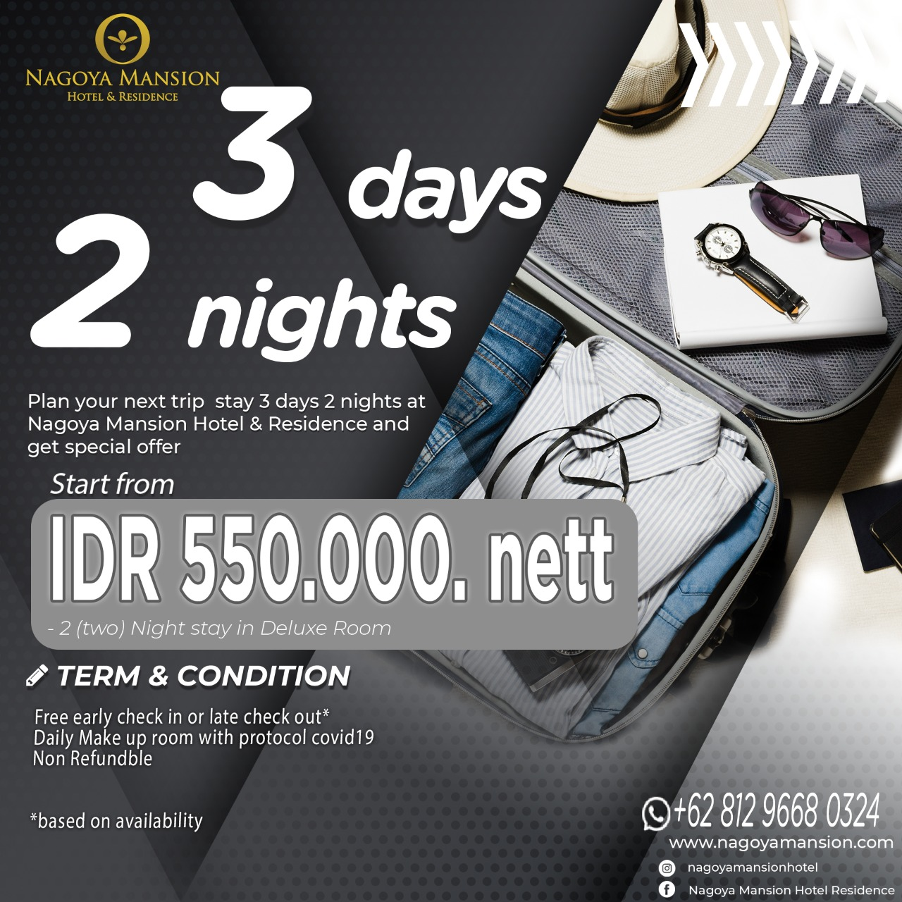 3 days 2 nights Promotion October 2020