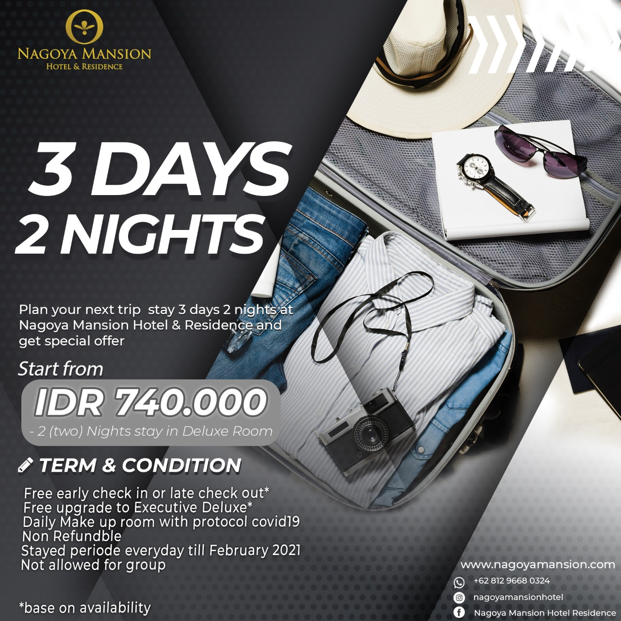 3 days 2 nights Promotion December 2020
